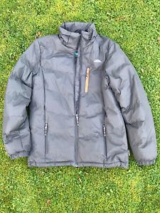 Trespass Waterproof Padded Grey Jacket - Adult Small