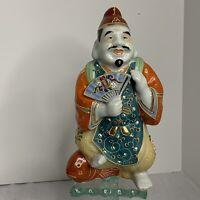 Kutani Of Japan Porcelain Moriage Enamel Happy Buddha