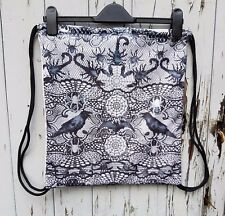 Gothic Spider & Scorpion Backpack - Bag Gym Handbag Horror Lace Goth Raven