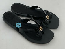 NEW! GUESS PILAR BLACK LOGO BOW STRAP SANDALS SLIPPERS 6 36 SALE