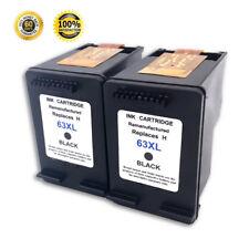 2 Pack Black Ink Cartridges for HP 63XL Deskjet 1000 2130 3630 3633 Envy 4520