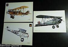 KG4x6 AIRPLANE AVIATION MADE IN SPAIN PFALZ DIII AIRCO DH9 HAWKER Postcard LOT