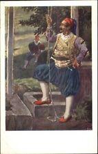 Ragusa Croatia Native Man Costume Habitants de Breno c1910 Postcard