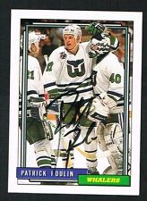 Patrick Poulin #328 signed autograph auto 1992-93 Topps Hockey Trading Card