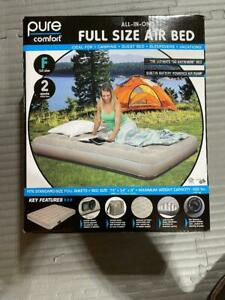 Pure Comfort Full size Air Bed All in One Built in Battery Powered Pump (Go Anyw