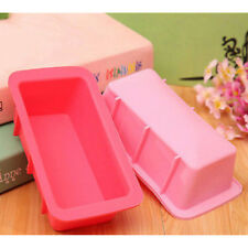 rectangle silicone non stick bread loaf cake mold bakeware baking pan oven*dm