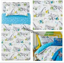 DINOSAUR DUVET COVER SET JURASSIC PARK KIDS BOYS SINGLE BED QUILT BEDDING SET