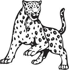 Aufkleber Sticker Wandtattoo Autoaufkleber Leopard schwarz matt 550 x 550 mm