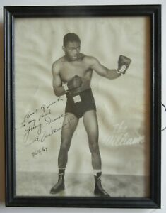 Ike Williams Vintage Boxing Photo Photograph Signed Autograph
