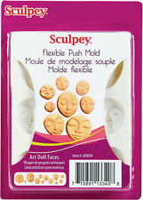 Sculpey Push Molds Art Doll Faces, Crafts, jewellery making, polymer clay