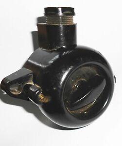 Vintage Bakelit Feuchtraum Drehschalter Aufputz Loft Industrie Design (E21