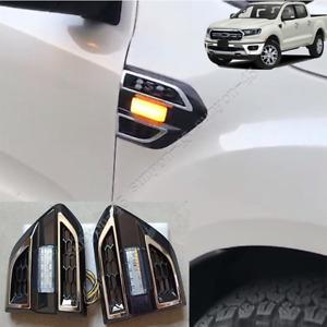For Ford Ranger 2019-2021 LED Fender Daytime Running Lights Turn Signal Lights