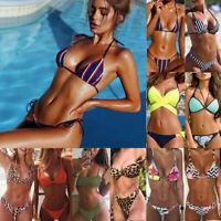 2019 Sexy Women Floral Bikini Set Push up Padded Swimwear Swimsuit Bathing Suit