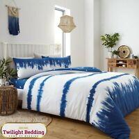TIE DYE DUVET COVER PILLOW CASE Wave Bedding Set Ultra Soft Warm Quilt Covers