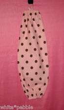 Handmade Grocery Bag/Rag Dispenser - Pink with large brown polka dots