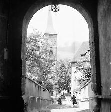 SUISSE c. 1959 -Passage Voûté Clocher de St Martin Coire- Négatif 6 x 6 - Sui 62