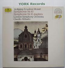 DG 415 841-1 - MOZART - Symphonies No 40 & 41 ABBADO London SO - Ex LP Record