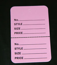 """100 LAVENDER 1-1/4""""x1-7/8"""" Small Perforated Unstrung Price Consign Store Tags"""