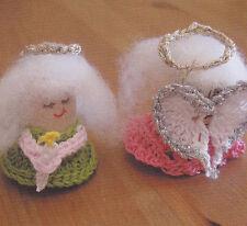 Crochet Pattern ~ Tiny Cork Angel Christmas Ornament ~ Instructions