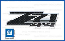 2 - Z71 4x4 FSCFB - GMC Sierra 07-13 Decal Sticker Chevy Silverado Carbon Fiber