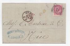 M86-VITT.EM.II°-40 CENT DA GENOVA A NIZZA 1875