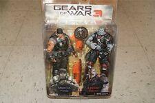 "Gears of War 3 Marcus Fenix & Locust Grunt  Flaming Lancer Hammerburst 7"" Figure"