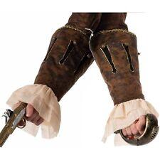 Buccaneer Male Wrist Cuffs, Brown Pirate, Forum Novelties