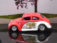 Jada Vdubs 1959 Volkswagen Super Bug In Red & White 1/64 Scale Diecast See Pics