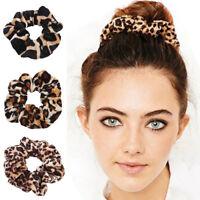 Leopard Print Hair Bands Scrunchie Elastic Scrunchy Ponytail Holder Hairband HU