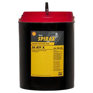 Shell Spirax S6 ATF X Transmission Oil 20L fits Toyota Rav 4 2.0 VVTi 4x4 (XA...