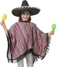 Mexikaner Poncho Pedro Bunt Kinder Kostüm Mexico Chile Peru Fasching Mottoparty