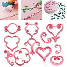 12pcs Flower Rose Sugarcraft Cake Cookies Pastry Fondant Cutter Mold Decor DIY