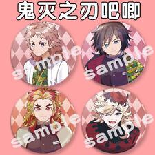 4PCS Anime Kimetsu no Yaiba Figuur Badge Brooch Pin Bags Decor 58mm R71