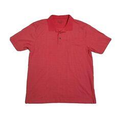 Jos. A. Bank Leadbetter Golf Polo Shirt Mens X Large Orange Short Sleeve Striped