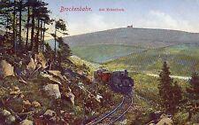 POSTCARD  GERMANY  BROCKENBAHN  Am  Eckerloch