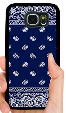 BLUE BANDANA CRIP PHONE CASE FOR SAMSUNG NOTE GALAXY 4 S5 S6 S7 S8 S9 S10 PLUS