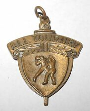 1930's Basketball Charm Pin Coin Medallion Showing Male Figure Man Medal v2