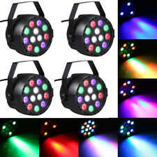 4X LED Bühnenbeleuchtung RGB PAR Licht 12 LEDs Sound-aktivierte Bühnenlicht V9G3