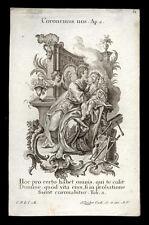 santino incisione 1700 S.GIUSEPPE.  klauber