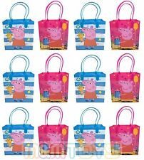 12x Nick Jr. Peppa Pig Birthday Party Favors Goody Loot Gift Candy Bags