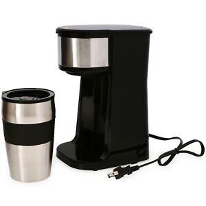 TikTok Reusable Filter Fast Personal Coffee Maker w/ Tumbler Grab & Go Hot Water