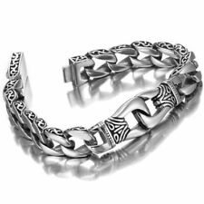 Men Jewelry Stainless Bangle Steel Polished Silver Heavy Link Chain Bracelet