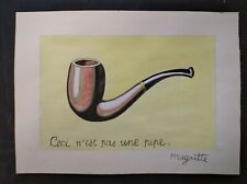 RENÉ MAGRITTE    DRAWING SIGNED  WATERCOLOR ON ORIGINAL PAPER OF THE 60s