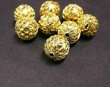 8pc gold finish 9mm Brass Beads(wire wrapped)-1555