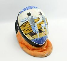 Custom Painted Fencing Scene Fencing Mask Helmet Art Project Decor