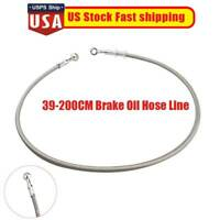 Motorcycle Brake Clutch Oil Hose Line Pipe Banjo Fitting Stainless Steel USA NEW