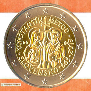 Sondermünzen Slowakei: 2 Euro Münze 2013 Kyrill & Method Sondermünze Gedenkmünze