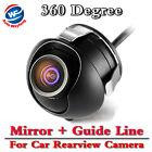 Car Rear View Camera Night Vision CCD/HD 360 Degree Parking Cam Waterproof
