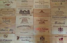 4 x Wine Box End Panels. ~ Wooden. Crate, Side, Plaque. Decoration. Home Bar.