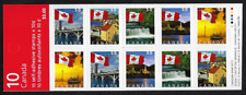 Canada Stamps - Booklet Pane of 10 - Flag Booklet #2080a (BK302b) - MNH